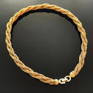 ✨Signed Christian Dior Gold Mesh Twisted Choker